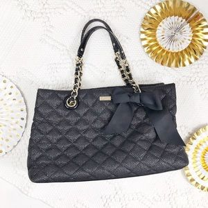Kate Spade Black Quilted Bow Chain Strap Purse
